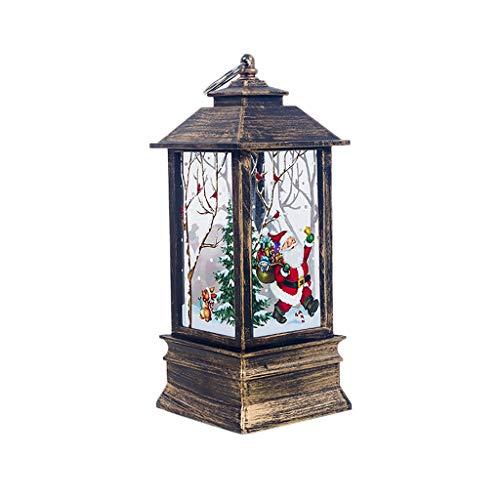 Momola Weihnachten Laterne,Laterne mit flackernder LED-Kerze Batteriebetrieben: 3 x 5AA für Garten Weihnachten Party Hochzeit Innen und Außen (Weihnachtsmann)