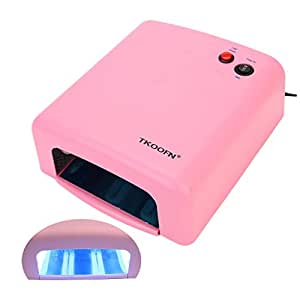 Lampe UV 36W Manucure Faux Ongles Gel UV Fonction Timer (Rose) - ME104