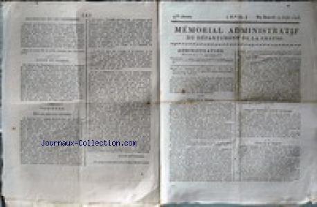 MEMORIAL ADMINISTRATIF DU DEPARTEMENT DE LA CREUSE [No 33] du 14/08/1813 - ADMINISTRATION - M. DU MARTROY - VARIETES - NOUVELLES ETRANGERES - ANGLETERRE - EMPIRE D'AUTRICHE - SAXE - ESPAGNE - ROYAUME D'ITALIE - ARMEES D'ESPAGNE - LE MARECHAL DE DALMATIE - AU MINISTERE DES CULTES - COUR DE CASSATION - S.E.M. JUNOT - DUC D'ABRANTES EST MORT.