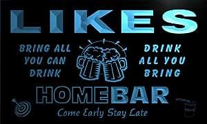 q26466-b LIKES Family Name Home Bar Beer Mug Cheers Neon Light Sign