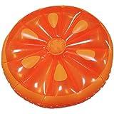 Rexco Jumbo Inflatable Groß Orange Rund Stück Frucht- Island Strand Schwimmer Liegestuhl Schwimmbad Jumbo Luft Matte Wassersport Spielzeug Raft Lilo