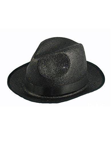 2494866d173f2 Negro Purpurina Sombrero Fedora Michael Jackson Estilo Años 20 Gánster  Fiesta De Disfraces