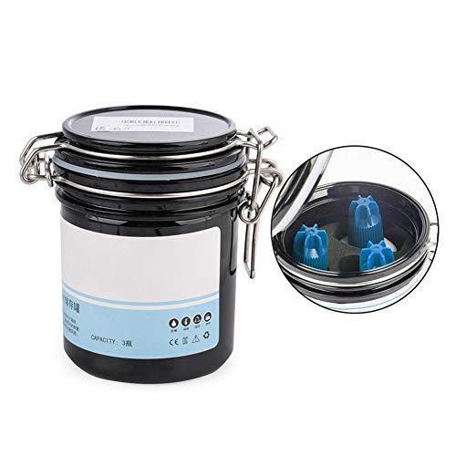Wimpernkleber-Vorratsglas, Aktivkohletank Versiegelter Vorratsbehälter zum Aufpfropfen von Wimpernwerkzeugen