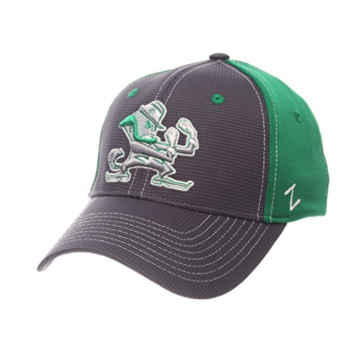 NCAA Notre Dame Fighting Irish Herren Grid Cap Erwachsene, Medium/Large, Grau/Team - Cap Notre-dame-fitted