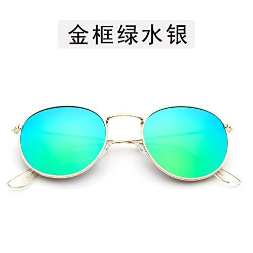 Sonnenbrille Kleine Runde Sonnenbrille Frauen Männer Aviation Auge Sonnenbrille Metallrahmen Sonnenschutz Für Frauen Top Selling Gold Grün
