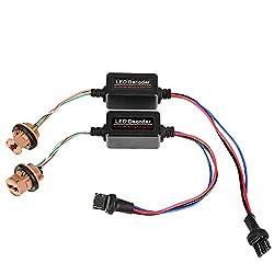 Qiilu LED-Decoder, 2 Stk. T20 7440/7443 SocketWarning Error Canceler Lastwiderstand LED-Decoder