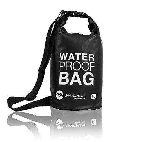 EYEPOWER Trockentasche Dry Bag 5L Schwarz 100{822b105c3121a29011fab5403152e9678b6a9e3561f33c1ed373f5434615c527} wasserdicht Ultraleicht Packsack Stausack inkl. Verstellbarer Schultergurt Seesack