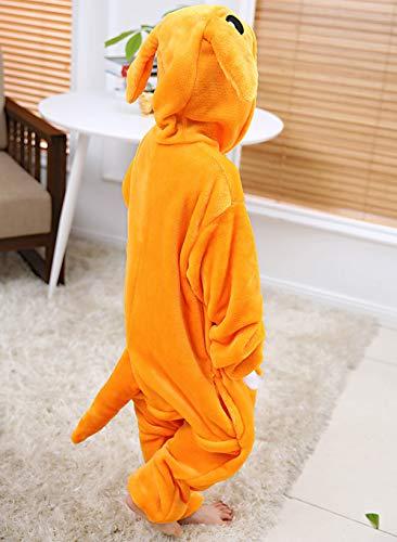 (Kinder Pyjamas Tier Känguru Overall Flanell Cosplay Kostüm Jumpsuit für Mädchen und Jungen Hohe 90-148 cm)