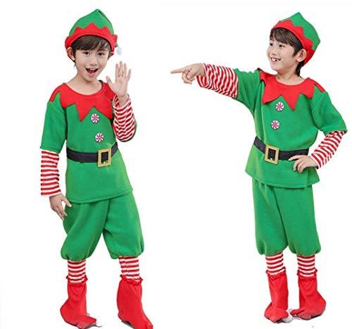 CN Halloween Kinder Kleidung Mädchen Weihnachten Elf Kostüm Jungen Cosplay Rollenspiel Umwelt Leistung Kostüme,Männliches Geld,150 cm