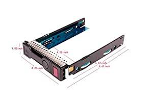"3.5"" 651314-001 Gen8 3.5 LFF Drive Tray DL388 DL560 WS460c BL420c BL465c BL660c G8 LFF SAS SATA HDD Tray Caddy for HP exclusively by Wali"