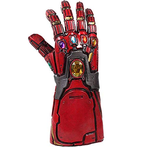 Mens Marvel Kostüm - Pandacos Iron Man Handschuh Infinity Thanos Gauntlet mit LED in Steine Leuchtend Cosplay Handschu aus Latex Premium-Design Unisex - Erwachsene, Einheitsgröße
