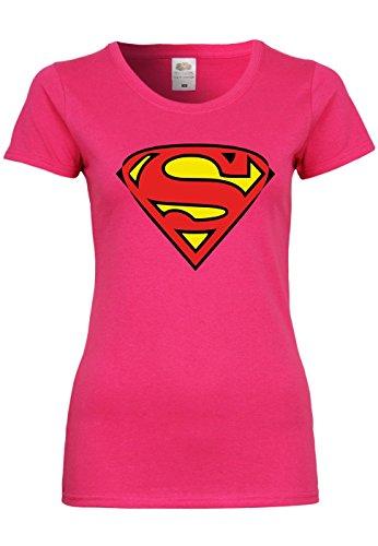 METRA M91 F288N Damen T-Shirt mit Motiv Superman, -