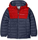 Columbia Wasserabweisende Jacke für Jungen, Powder Lite Hooded Insulated Jacket, Polyester, blau (collegiate navy), Gr. M, EB0013