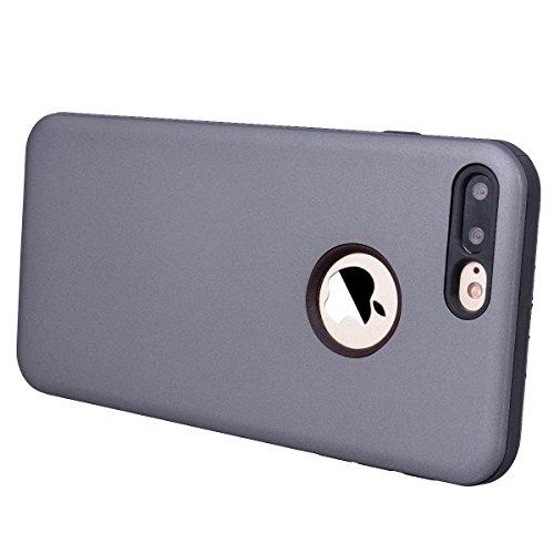 Yokata Cover per iPhone 7 Plus Custodia per iPhone 7 Plus gel Silicone Case Durevole TPU Backcover Protettiva Caso Premium Ultra Sottile Bumper Antiurto Protezione Shell + Penna - Verde menta Grigio