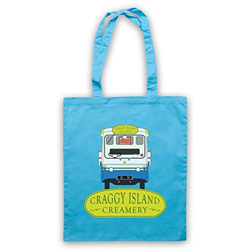 Inspiriert durch Father Ted Craggy Island Creamery Inoffiziell Umhangetaschen Hellblau