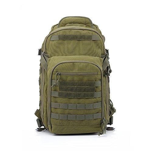 Imagen de yakeda® bolsa de hombro bolsos del alpinismo al aire libre equipado camuflaje táctico  de camping bolsa de viaje bolsas de viaje   militar 60l que acampa yendo trekking bolsa  a88034 verde militar