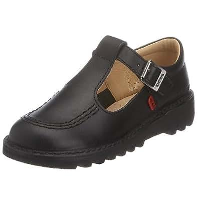 Kickers Kid's Kick T J Core Classic School Shoes - Black, 1 UK