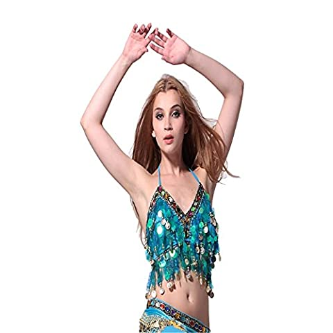 Belly Dance Costume Coloured Bead Sequined Belly Dance Bra Top Dancewear Dance Clothes
