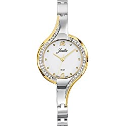 Joalia Women's Analogue Watch with White Dial Analogue Display and Metal Bicolour - 634581