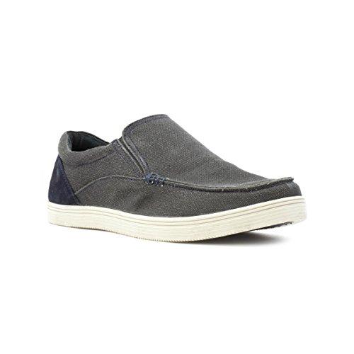 Lotus Mens Grey Slip On Canvas Shoe - Size 9 UK -...