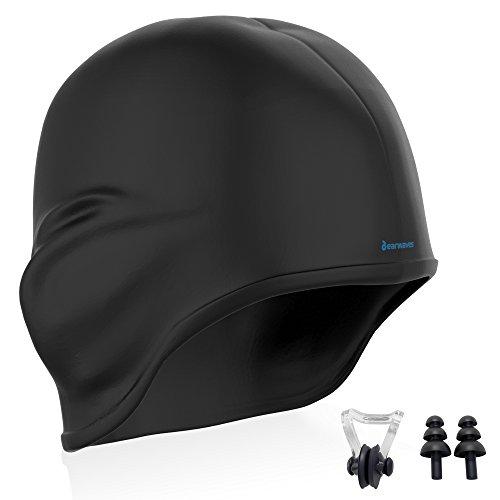 Earwaves ® H2O - Gorro de natación con diseño ergonómico 3D y cavidad para  orejas. 30ee26ab628