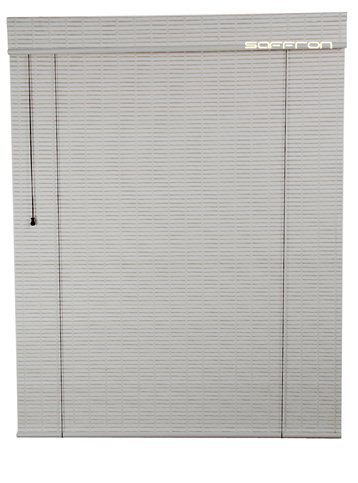 Art Wood Roll Up Blinds- Ivory White (4Ft Width X 8ft Height)