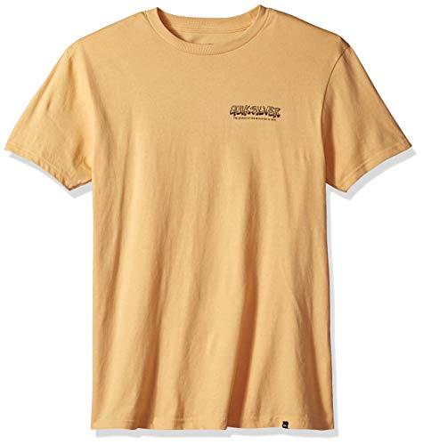 Quiksilver Herren OG Mountain and Wave Tee T-Shirt, Sahara Sun, Groß -