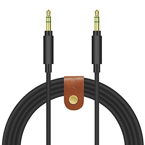 Geekria Apollo Cavo audio di ricambio per cuffie Sony MDR-1000X, MDR-100AAP, MDR-100ABN, MDR-XB950BT, XB650BT, XB750BT, MDR-1A e altri/anti groviglio (3,5 mm, 1,5 m)