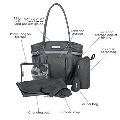 Babymoov A043570 Wickeltasche Glitter Bag, schwarz - 2