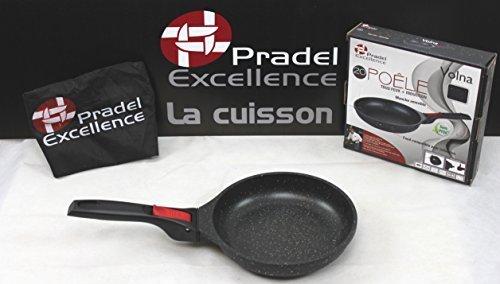 Pradel Excellence - Gamme luxe Volna- Poêle 20 cm revêtement pierre - manche amovible - Garanti sans PFOA