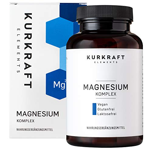 Magnesium (Kurkraft Premium Magnesium Komplex (240 Kapseln) - Citrat + Oxid (50/50) - 360mg elementares Magnesium in nur 2 Kapseln - Einführung - ohne Zusatzstoffe - Vegan - Sorgfältig hergestellt in Deutschland)