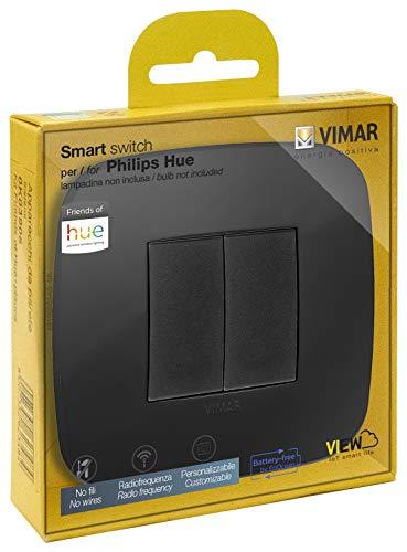 Vimar 0K03906.08 Kit Interruttore Senza Fili in Radiofrequenza Philips Friends of Hue Serie Arké Round. Non Servono Batterie