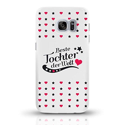 """JUNIWORDS Handyhüllen Slim Case für Samsung Galaxy S7 mit Schriftzug """"Beste Tochter der Welt"""" - ideales Weihnachtsgeschenk für die Tochter - Motiv 4 - Handyhülle, Handycase, Handyschale, Schutzhülle f motiv 4"""