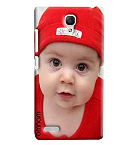 Omnam Cute Little Boy In Red Dress Printed Back Cover Case For Xiaomi Redmi Note