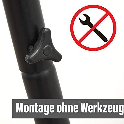 Hängestuhlgestell 210cm | Hängesessel-Stand Ständer aus Stahl in Schwarz | Belastbarkeit max. 150KG | Perfekt für XXL Mehrpersonen-Hängestühle Hängesessel Hängesitz | Freistehendes Metallgestell | Innen- und Außenbereich - 5