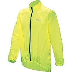BBB Baseshield - Chubasquero de Ciclismo para Hombre, Color Amarillo neón, Talla M