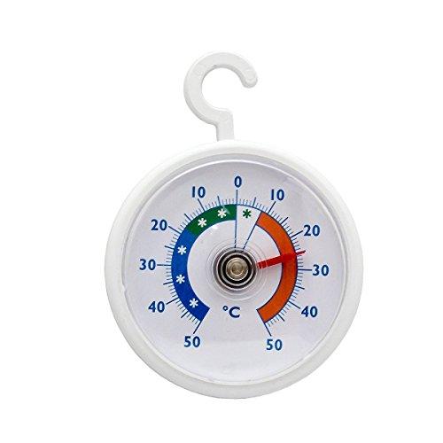 Lantelme rundes Bimetall Kühlschrank - Gefrierschrank - Thermometer Analog. Kühlschrankthermometer 2326