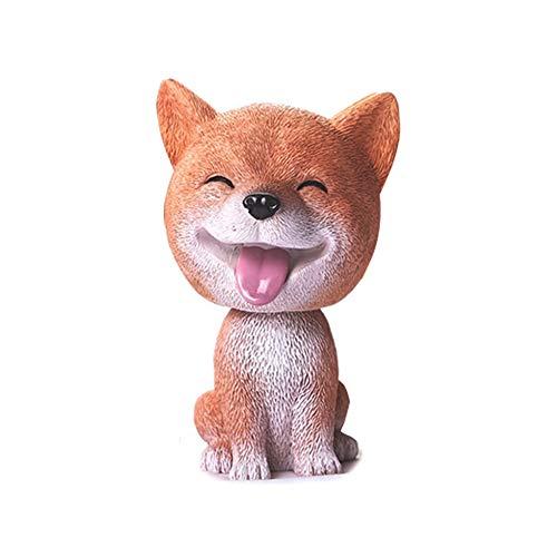 Preisvergleich Produktbild AzuNaisi Auto Verzierungen Netter Kopf schütteln Wackelhund Welpen Figuren Wackelkopf Hund Puppe spielt Auto Innendekoration Geschenke (Shiba Inu) Autoaccessoires
