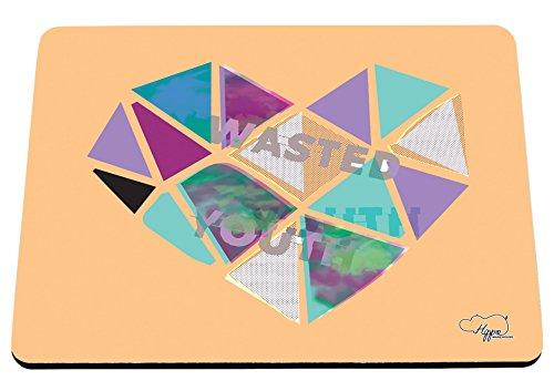 80 ' S Tee (hippowarehouse Wasted Youth Love Herz gedruckt Mauspad Zubehör Schwarz Gummi Boden 240mm x 190mm x 60mm, Orange, Einheitsgröße)