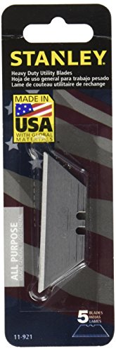 Replacement Blades, f/ Utility Knife, 5/PK, Silver, Sold as 1 Package