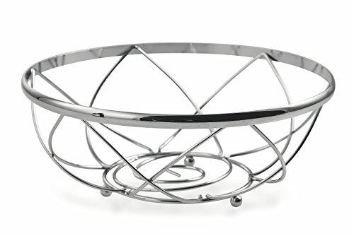 Galileo Casa 2410764Frutero, Acero Cromado, Silver, 24x 24x 0.300cm