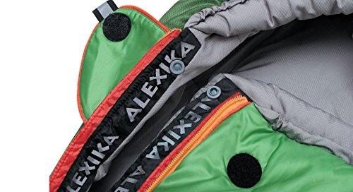 ALEXIKA Schlafsack Aleut, rechte Reißverschluss, grün-grau / grau, 95(Breite oben)x230(Länge) x65(Breite unten), 9232.0107R - 8