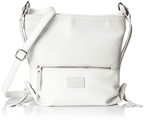 TOM TAILOR Umhängetasche Damen, Elin Flash, Weiß, 28.5x26x9 cm, TOM TAILOR Taschen für Damen