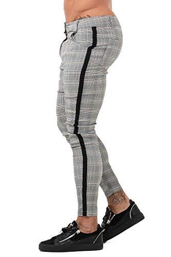 GINGTTO - Pantalones Chinos Ajustados Hombre, elásticos