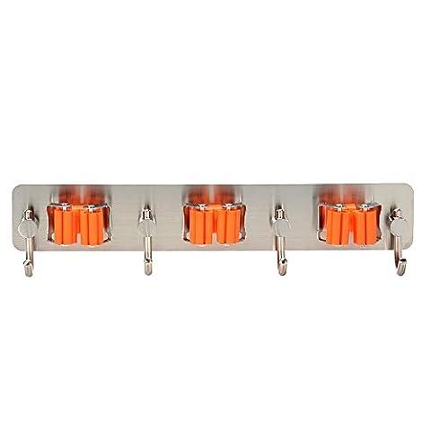 Lanlan istainless Stahl Badezimmer Küche 3m selbstklebend Rack Home Organizer Tools Mop Besen Halter