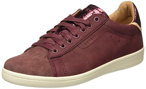 ESPRIT Mary Lace Up Damen Sneakers Rot (600 Bordeaux Red)