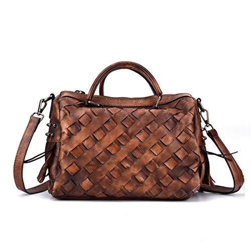 Haxibkena Damen große Kapazität Arbeit Tote Schultertasche gewebt Handtasche Kissen Tasche (Color...