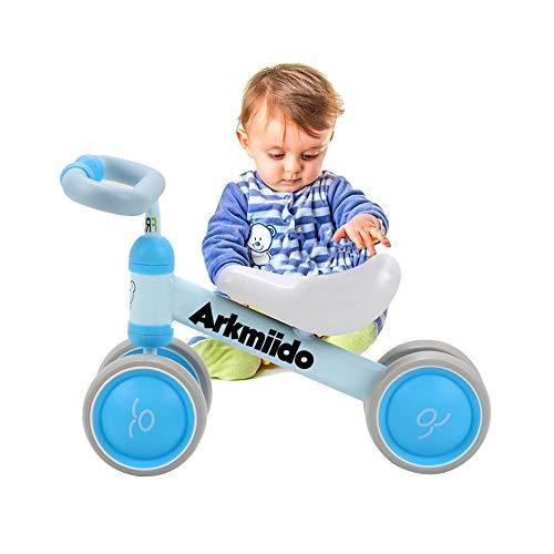 Arkmiido Bicicleta Bebé Equilibrio, Baby Balance Bicicleta, Bicicleta Bebé sin Pedales Juguetes Bebes 1-3 años (Azul)