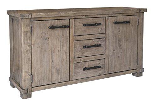 The Wood Times Sideboard Vintage Wohnzimmerschrank Massiv Industrial Kiefernholz, FSC Recycelt, BxHxT 160x85x45 cm