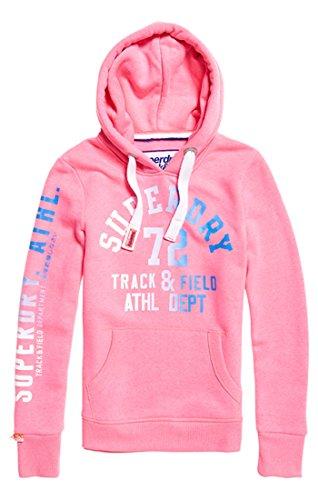 Superdry Damen Kapuzenpullover Track & Field Rosa (Casette Pink Snowy)